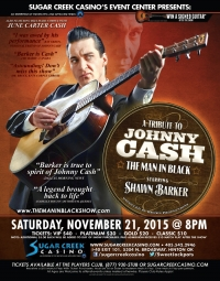 The Man In Black: A Tribute To Johnny Cash Starring Shawn Barker