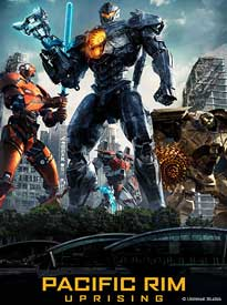 Event flyer for Sugar Creek Movie Mania Presents: Pacific Rim Uprising