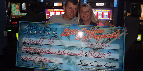 Sugar Creek Casino 2014 Jackpot Winners